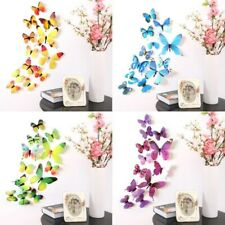 12pcs/lot 3D Effect Crystal Butterflies Room Wall Decals Multicolor Wall Sticker