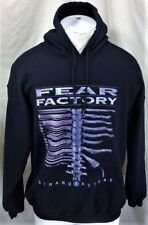 """Vintage 1995 Fear Factory """"Demanufacture"""" (Large) Pullover Hooded Sweatshirt"""