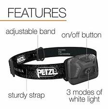 Petzl Tikkina Headlamp Perfect Camping Hiking FIshing 150 lumens Head Torch NEW