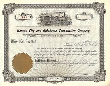 Kansas City and Oklahoma Construction Company Great train vignette