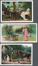 Lot of 3 Original 1890's Newsboy Plug Tobacco Advertising Victorian Trade Card