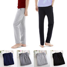 Men Casual Loose Long Comfy Pajama Pants Sleepwear Lounge Stretchy Trousers S-XL