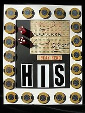 21 Vintage Retired Golden Nugget Casino Carson City 1.00 Chips, Keno,Dice Coll