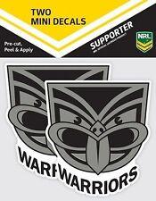 620016 NEW ZEALAND WARRIORS NRL SET OF 2 MINI DECALS CAR STICKERS ITAG