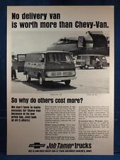 Vintage Magazine Ad Print Design Advertising Chevrolet Job Tamer Trucks