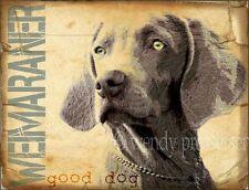 Weimaraner Dog Art Print Poster -Vintage Series Wendy Presseisen