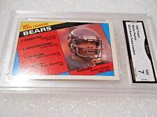 Walter Payton GRADED CARD!! 1984 Topps #221 Bears HOFer! 7X-1