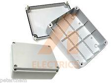 240mm Waterproof Junction Box Adaptable Enclosure PVC Plastic IP56 - Pack of 2