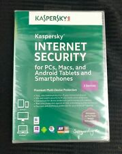 Sealed KASPERSKY Internet Security 3 Devices Windows 7/8/8.1/XP/Vista 2013