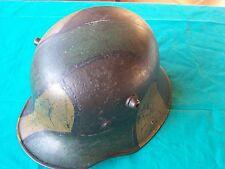 WW 1 Prima Guerra Mondiale Elmetto Tedesco M 16 Camo German Camo Helmet mod 1916