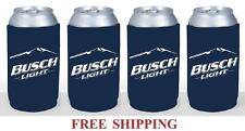 Busch Light 4 16oz Beer Can Coolers Koozie Coolie Pint Huggie Pounder Bud New