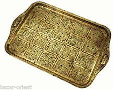 antik islamic orient Emailarbeit Messing tablett Teetisch enamelled tea tray PT4