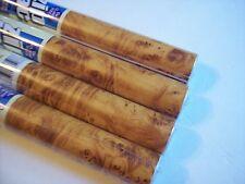 Burl Wood Contact Paper 4.5 Ft. PreCut Butterscotch Brown Shelf Liner