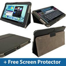 Étui en cuir noir pour Samsung Galaxy Tab 2 10.1 P5100 P5110 3G WiFi couvrir