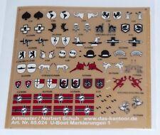 Artmaster 85.024 Trockenanreiber, U-Boot Markierungen 1 Decals  Neu / OVP