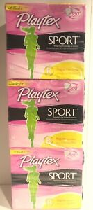 Playtex Sport Unscented Reg,Size 36CT,Pack of 3, Plytx Sport Unscented Reg 36Ct