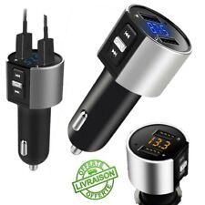 Transmetteur Bluetooth Voiture Chargeur Sans Fil Radio Lecteur FM MP3 USB Libres
