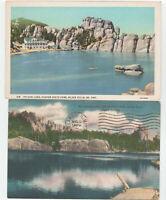 Black Hills, SD Custer State Park Sylvan Lake LOT 2 Postcard Old View vintage