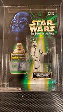 1999 Hasbro Star Wars POTF 2 Comm Tech Stormtrooper  AFA 80 NM New MOC