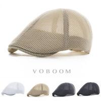 chapeau de lierre Hommes chapeau d'été Mesh respirant béret Cabbie chapeau 2