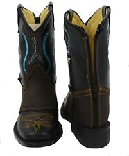 Kids Baby-Toddler Genuine Leather Cowboy Boots zipper closure Style 545 baby