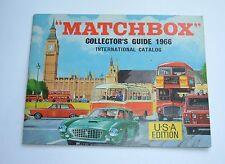 Very Rare Usa Edition Matchbox Toys Catalogue, Dated 1966, Superb Mint