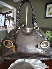TOD'S BRONZE LEATHER SATCHEL MADE IN ITALY