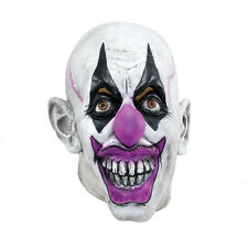 Scary Clown Overhead Rubber Mask Horror Circus Halloween Accessory
