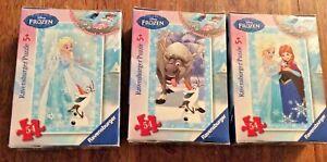 Disney Frozen 3 x  Ravensburger Mini Jigsaws 13x20cm 54 Pcs - Elsa Anna Olaf