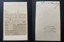 France, Paris, palais du Luxembourg Vintage albumen print CDV.  Tirage albumin