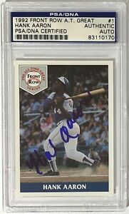 1992 Front Row All Time Greats Hank Aaron Auto #1 PSA/DNA Slabbed Authentic