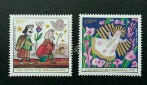 [SJ] Germany Christmas 1998 Animation Cartoon Fairy Tales Flower (stamp) MNH