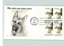 "SEEING EYE DOG ""My eyes are your eyes"" Block of 4, 1979 First Day of Issue"