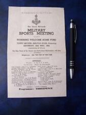Militaria  Military Sports Meeting program Pickering Yorkshire Green Howards