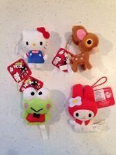 Set of (4) Sanrio 50th Anniversary HELLO KITTY Plush Christmas Ornaments NWT