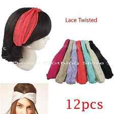 12pcs Lace Head Wrap Twist Knot Headband Twisted Knotted Turban Wholesale Lots