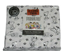 Peanuts Home Twin XL Snoopy Black White Sheet Set By Berkshire