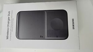 Official Genuine Samsung Duo Fast Wireless Charging  Black Pad & UK Plug.