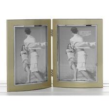 "Gold Double Photo Frame 4x6"" Gift Idea 18087"