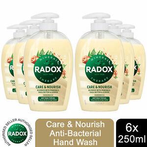 Radox Care+Nourish Anti-bac Hand Wash Shea Butter & Ginger, 6 Pack, 250ml