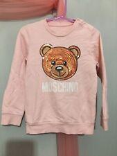 Girls Designer Moschino Pink Sequin Bear Sweatshirt Jumper 3yrs🐻🐻