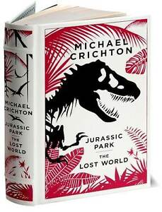*New* JURASSIC PARK/THE LOST WORLD by Michael Crichton ~ LeatherBound ~