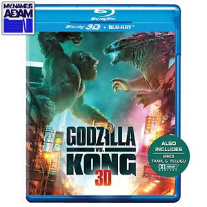 GODZILLA VS. KONG Blu-ray 3D + Blu-ray (REGION FREE) READY TO SHIP