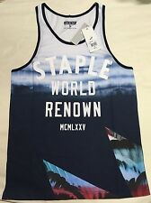 Staple Pigeon World Renown Tank Top Blue/White HUF NEFF The Hundreds
