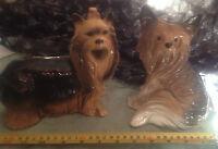 pair Vintage Yorkshire Terrier,Yorkie,Australian Silky Dog Figures Melbaware etc