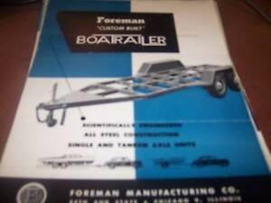 Foreman Custom Built Boatrailer Brochure