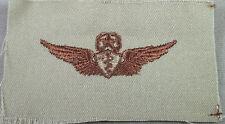 US Army Desert Tan Cloth Master Flight Surgeon Badge / Wing