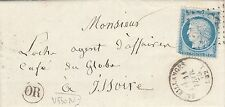 1875 LETTRE PUY DE DOME SAUXILLANGES OR USSON RARE
