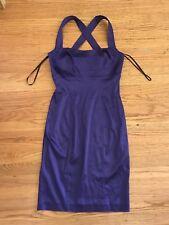 $180 Calvin Klein purple Satin like Fitted dress sz 6