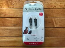 Premium Firewire Cable 4-pin to 4-pin 1.8m 6ft Belkin PC Mac Sony DV iLink Lynx
